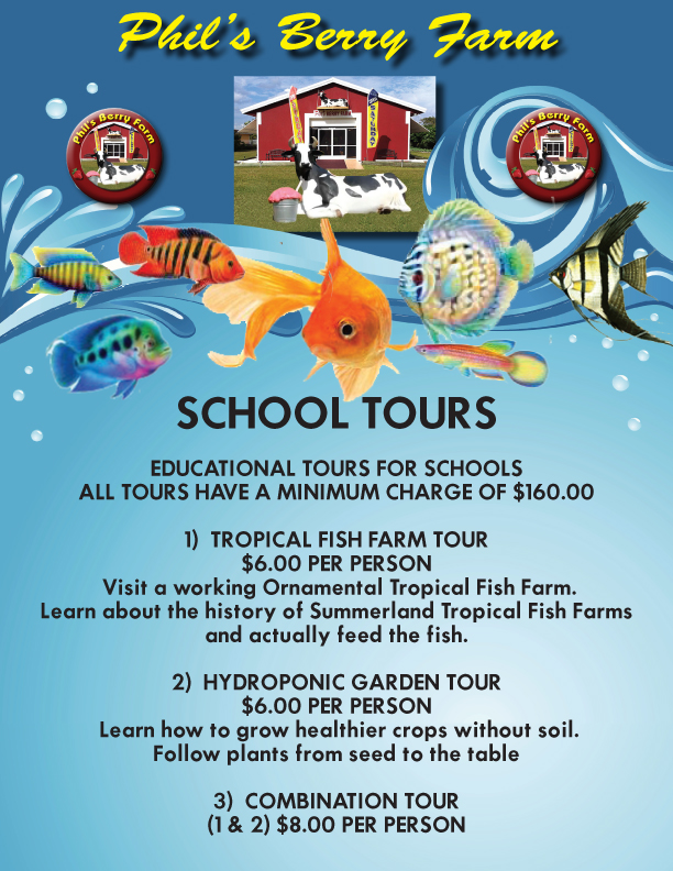 School Tours of Fish Farm Event